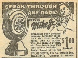 Vintage Radio Ad Courtesy Jose Fritz