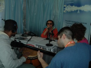 WLIU-BK Broadcasting from CMJ Exhibitor's Lounge