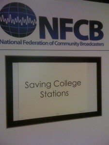 Saving College Radio Stations Panel at NFCB Offered Tips for Stations in Peril