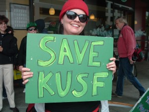 KUSF Supporters Protest at Entercom Headquarters
