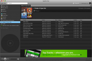 Spotify app screenshot