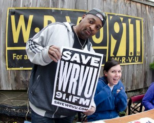 Chuck D at Record Store Day Supporting WRVU (Photo by Chris Nochowicz)