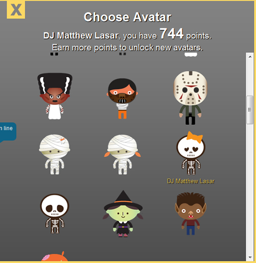 tt.fm Halloween avatars