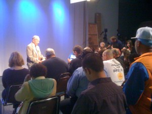 Harold Camping Leading Bible Study on May 12, 2011 (Photo: J. Waits)