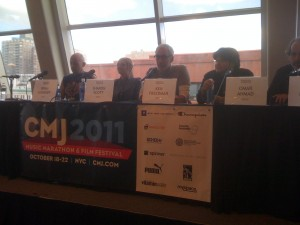 "CMJ's ""Saving College Radio"" panelists (Photo: J. Waits)"