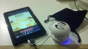 Kindle Fire with Pandora and speaker