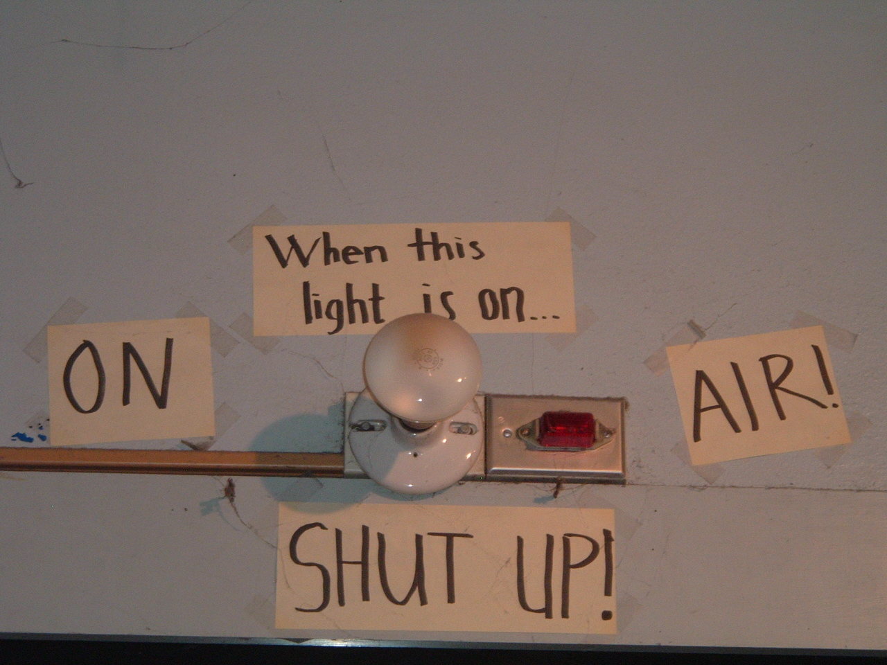 12 days of radio station signage day 11 when this light is on