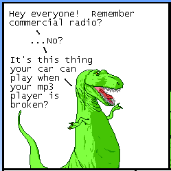 Dinosaurs remember commercial radio