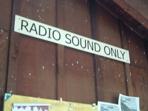 Radio Sound Only Sign at KZSC (Photo: J. Waits)