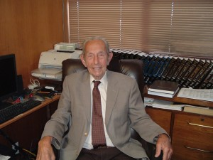 Harold Camping at Family Radio HQ in May 2011 (Photo: J. Waits)