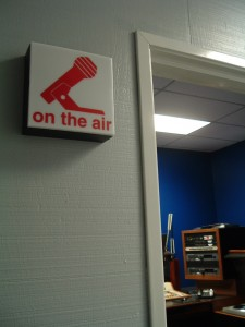 On the Air sign at KCNL in San Jose
