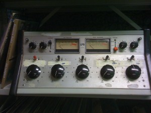 Old WHRC radio console