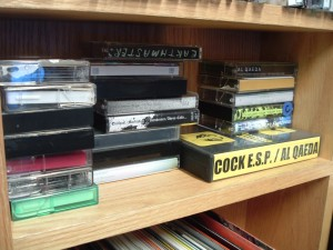 New cassettes at KFJC (Photo: J. Waits)