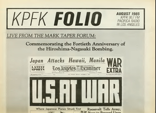 KPFA folio 1955