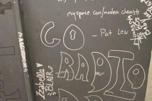 Writing on the wall at Radio De Paul (Photo: J. Waits)