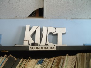 KUCI Sign, Spring 2012 (Photo: J. Waits)