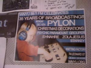 Poster at WNYU (Photo: J. Waits)