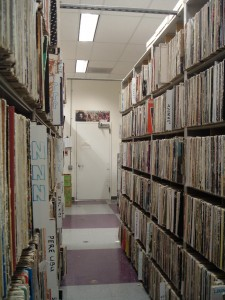 Record Library at KALX (2009 photo by J. Waits)