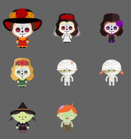 Turntable.fm Halloween avatars