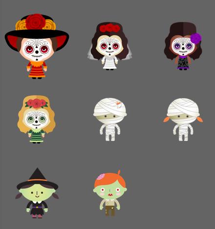 Turntable.fm Halloween avatars
