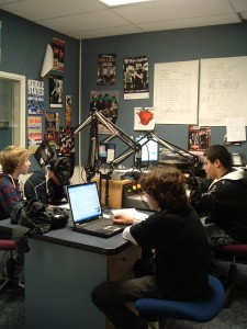 High School Students at WGBK (November 2009 photo by J. Waits)