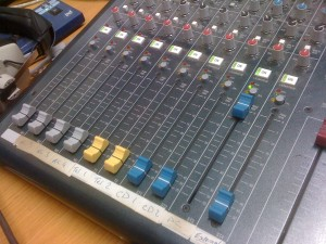 Board at Belfield FM in Ireland (Photo: J. Waits)