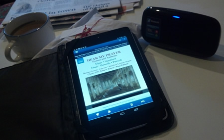 Nexus 7 as an Internet radio