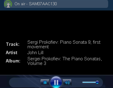A Sam Vibe classical piano radio station with eight pieces