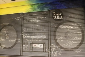 Mural at Radio DePaul in July 2012 (Photo: J. Waits)