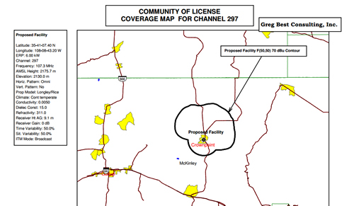 Crownpoint FCC contour by Navajo Technical College