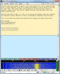 A Radiogram downloaded via shortwave receiver in Italy.