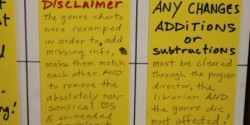 KZSC Genre Chart Disclaimer (photo: J. Waits)