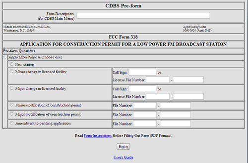 FCC LPFM form