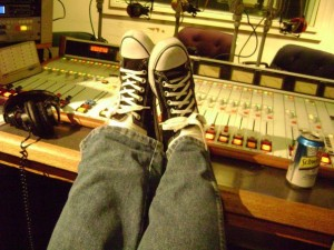 The  studio sneakers of Uncle Sidney
