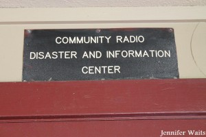 Community Radio Disaster and Information Center sign