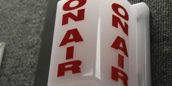 On Air Sign at Urban Knights Radio