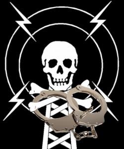 Pirate radio in handcuffs