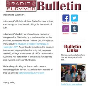 Radio Survivor Bulletin 4