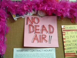 No Dead Air sign