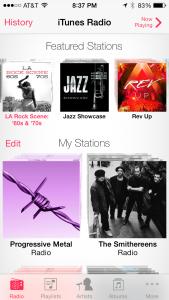 iTunes Radio Home Screen