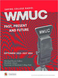 WMUC Saving College Radio Exhibit