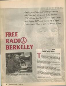 Monitoring Times article on Free Radio Berkeley