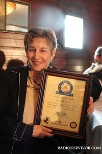 Judi Leff with Henry Leff award
