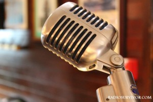 microphone at Bay Area Radio Hall of Fame lunch