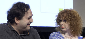 Tom Scharpling and Julie Klausner at RadioVision 2013