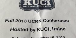 Fall 2013 UCRN program