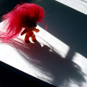 Ominous troll doll