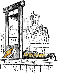 winamp in the guillotine
