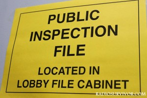 Public Inspection File sign at KUCI