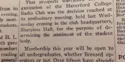 Haverford News clipping